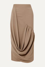 JW Anderson Draped wool midi skirt