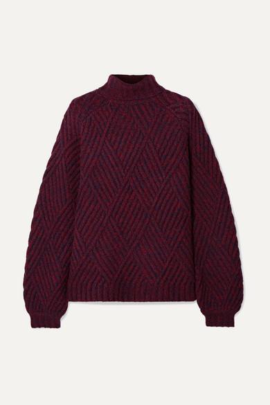 Burgundy Chunky Knit