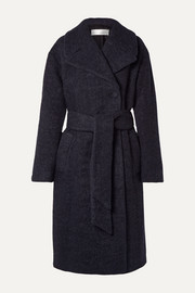 Victoria, Victoria Beckham Oversized belted wool-blend bouclé coat