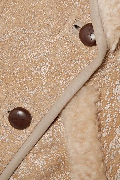 Audrina 大廓形绘色羊毛皮外套展示图