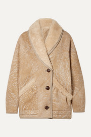 Audrina oversized painted shearling jacket