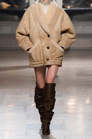 Isabel Marant Jackets Audrina oversized painted shearling jacket
