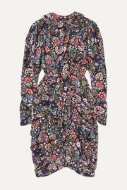Isabel Marant Blandine draped printed silk-blend dress