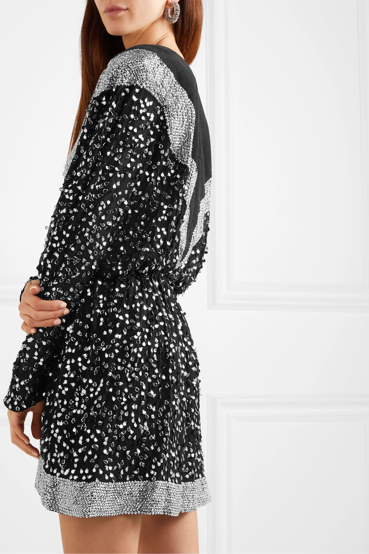 Isabel Marant Caldes sequined-embellished chiffon and cotton mini dress