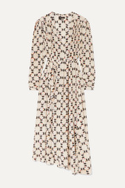 Isabel Marant Blaine asymmetric printed stretch-silk crepe de chine maxi dress