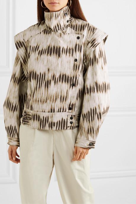 Idaline convertible tie-dyed denim jacket