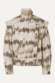 Isabel Marant Idaline convertible tie-dyed denim jacket