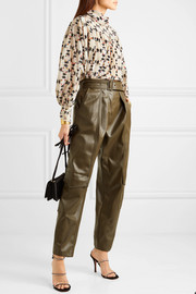 Isabel Marant Brandi printed stretch-silk crepe de chine blouse