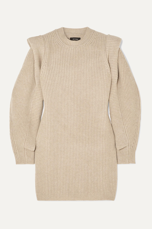 Isabel Marant Mini-robe en cachemire et laine mélangés côtelés Beatsy