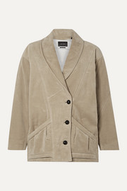 Isabel Marant Doreal oversized brushed cotton-twill jacket