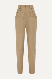 Isabel Marant Yerris pleated cotton-twill tapered pants