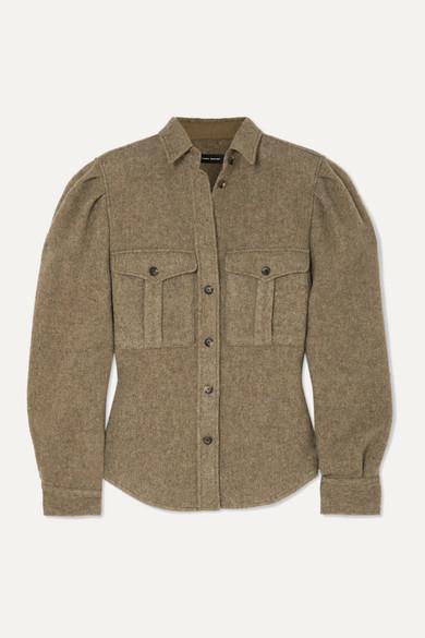 Florrie Brushed Wool Blend Shirt by Isabel Marant