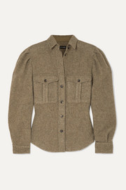 Isabel Marant Florrie brushed wool-blend shirt