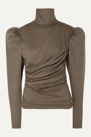 Isabel Marant Davina draped wool turtleneck top