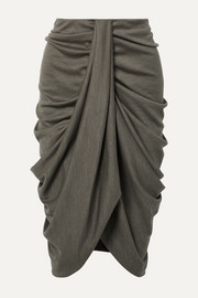 Isabel Marant Datisca asymmetric ruched wool-jersey skirt