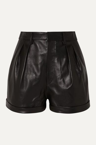 Isabel Marant Shorts Fabot pleated leather shorts