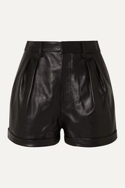 Isabel Marant Fabot pleated leather shorts