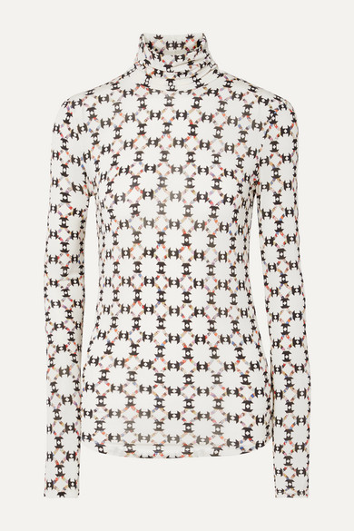 Isabel Marant Tops Joyela printed stretch-jersey turtleneck top