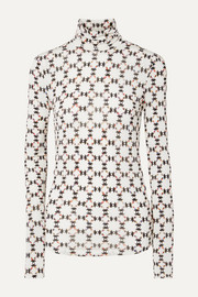 Isabel Marant Joyela printed stretch-jersey turtleneck top