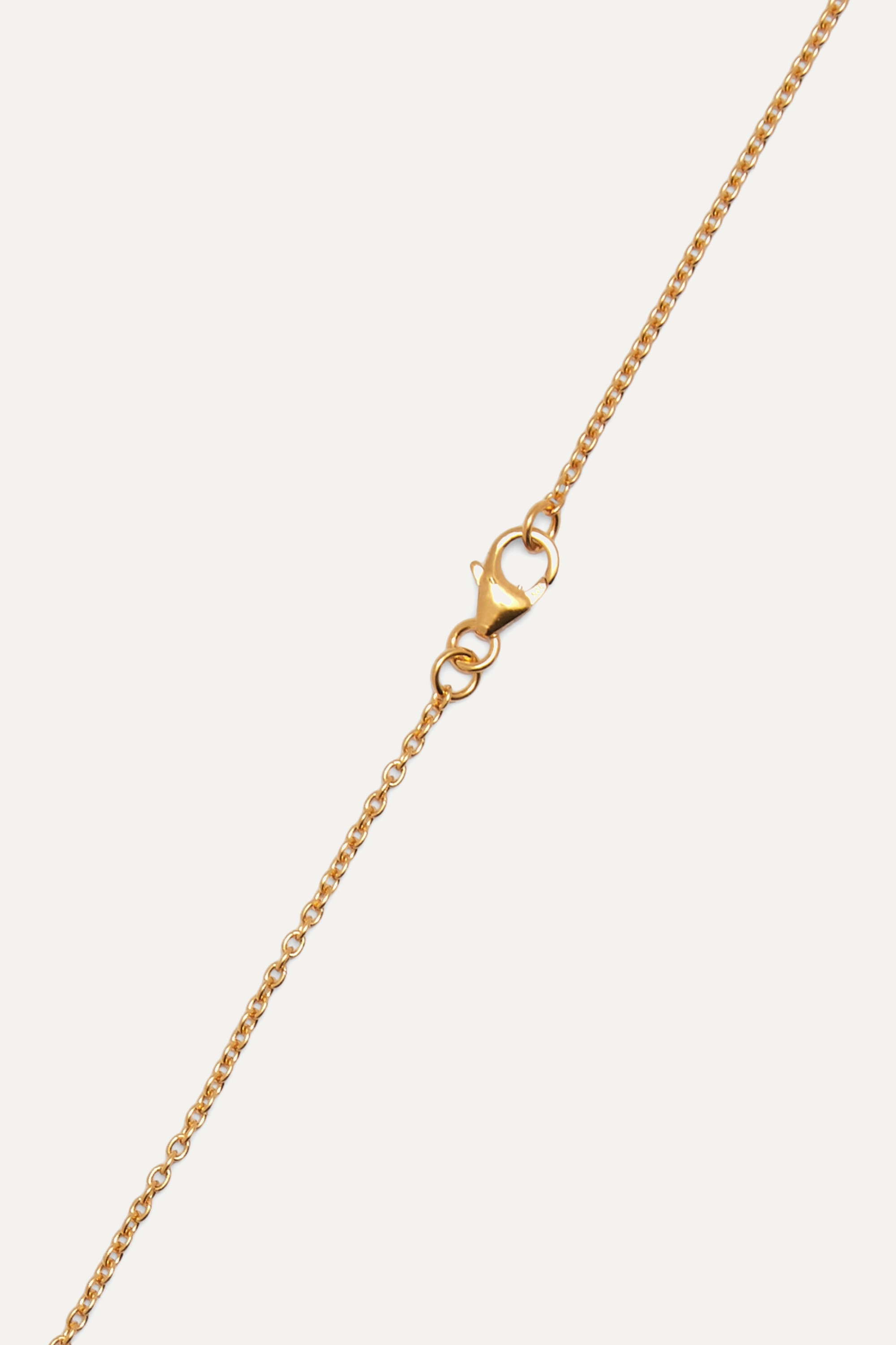 Pacharee Alphabet gold-plated pearl necklace