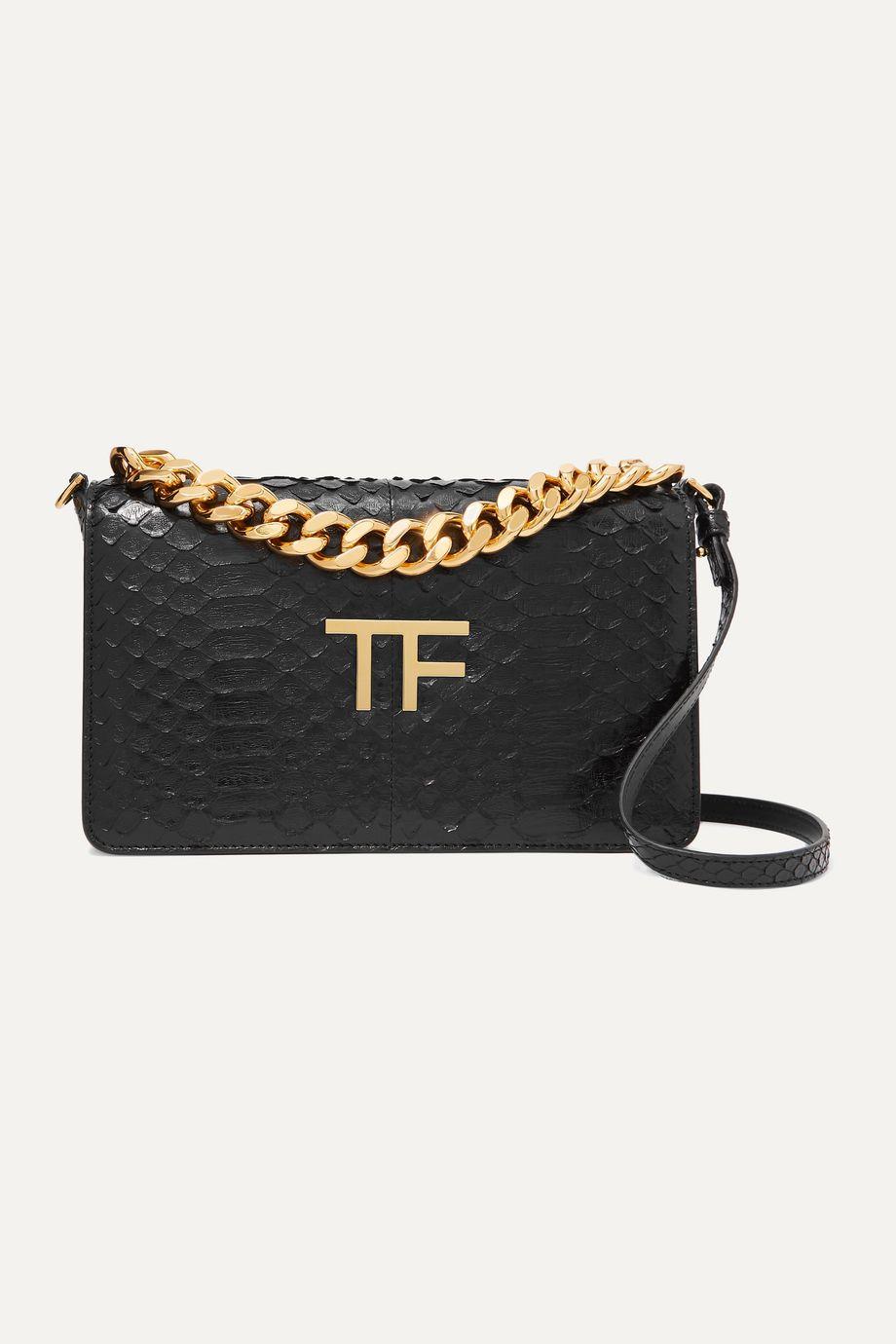 TOM FORD Embellished python shoulder bag