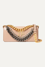 TOM FORD Triple Chain small embellished leather shoulder bag