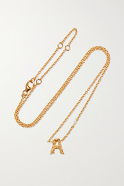 Pacharee Mini Alphabet gold-plated pearl necklace