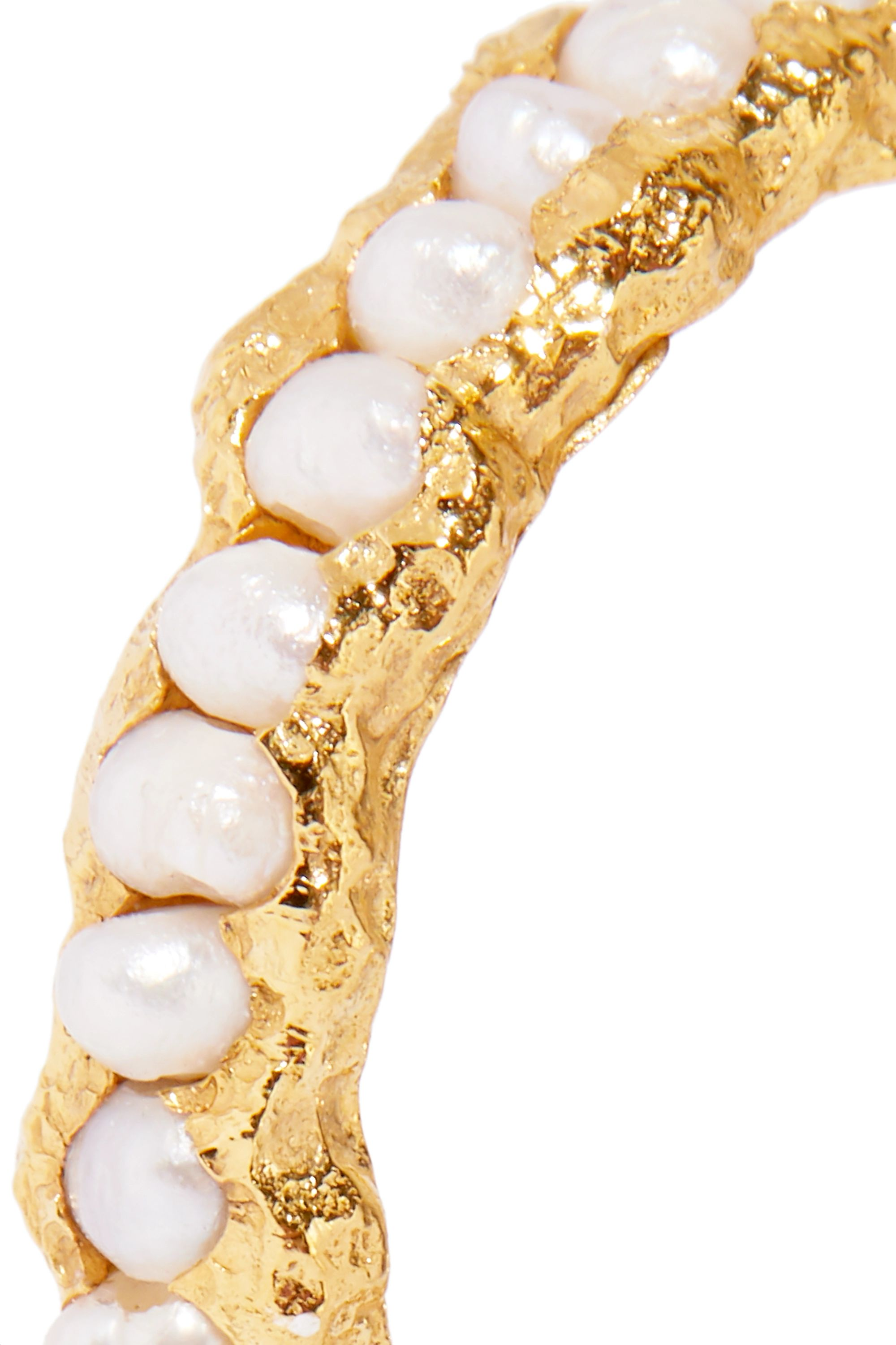 Pacharee Gold-plated pearl ring