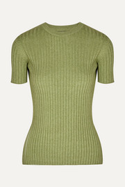 ANNA QUAN Bebe ribbed cotton top