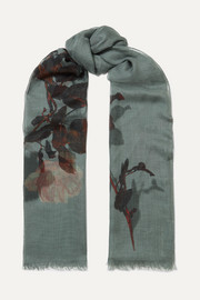 Dries Van Noten Faedra floral-print silk and modal-blend gauze scarf