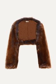Dries Van Noten Gilda faux fur shawl