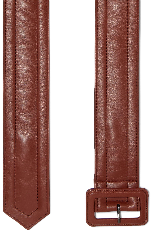 Dries Van Noten Quilted leather belt