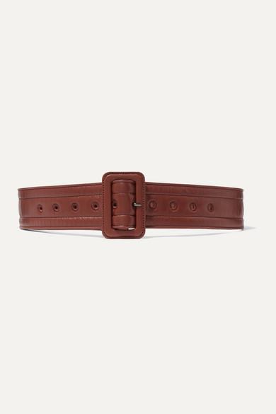 Dries Van Noten Belts Quilted leather belt