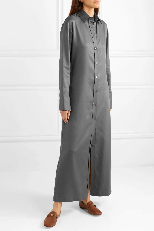 Deveaux Nye 天丝衬衫式连衣裙