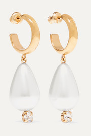 Simone Rocha Gold-tone, faux pearl and crystal earrings