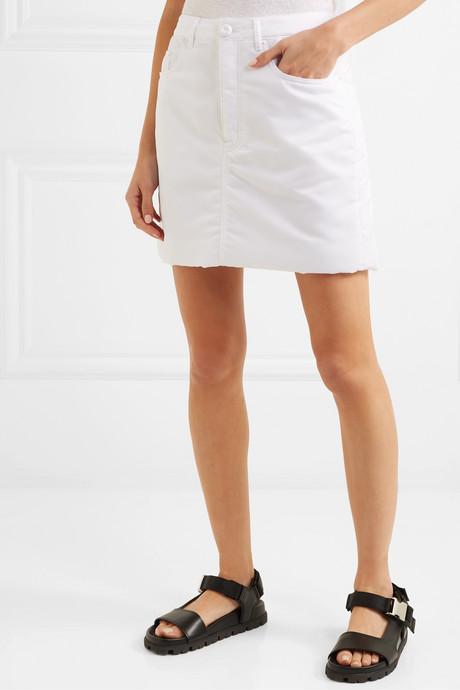 Padded shell mini skirt