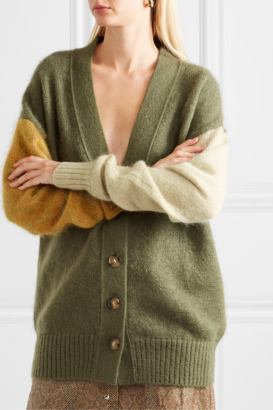 Murphy Cardigan Aus Einer Mohairmischung In Colour Block Optik by Rejina Pyo