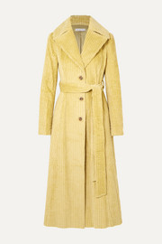Rhea cotton-corduroy trench coat