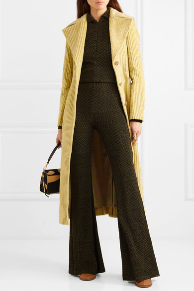 Rhea Cotton Corduroy Trench Coat by Rejina Pyo