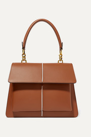 Attache large leather shoulder bag