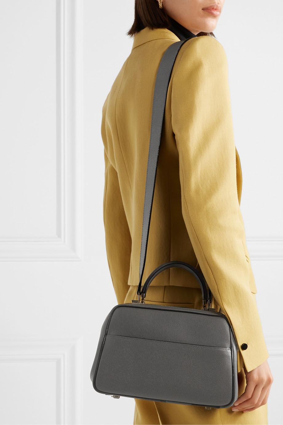Valextra Serie S 纹理皮革中号手提包