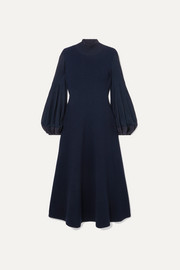 Akris Pleated wool midi dress