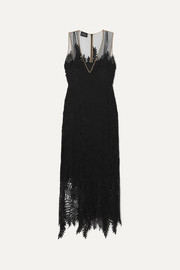Akris Embroidered tulle gown