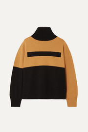 Akris Color-block cashmere turtleneck sweater