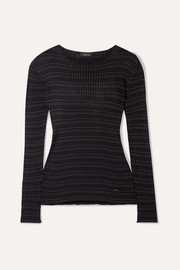Striped mulberry silk sweater