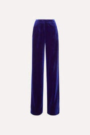 Akris Flore stretch-velvet wide-leg pants