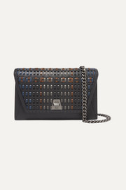 Akris Anouk City woven textured-leather shoulder bag