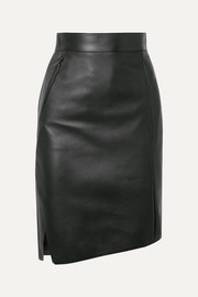Akris Asymmetric leather skirt