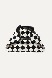 Akris Ai medium two-tone leather and suede tote
