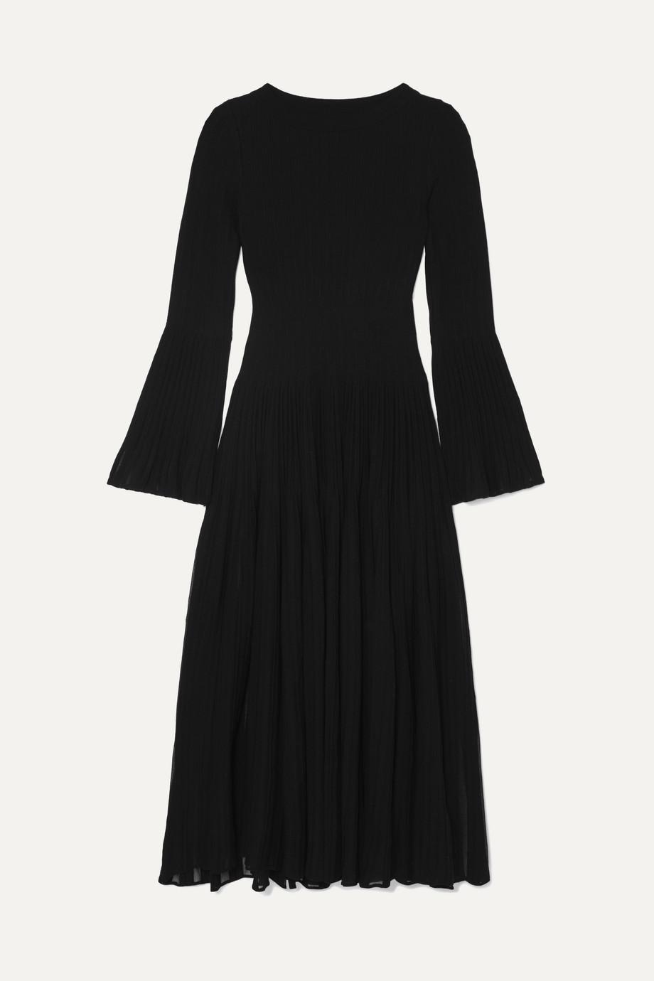 Alaïa Ribbed wool-blend maxi dress